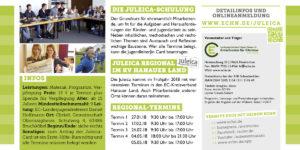 Flyer Juleica Regional 2018: Grundkurs im KV Hanauer Land