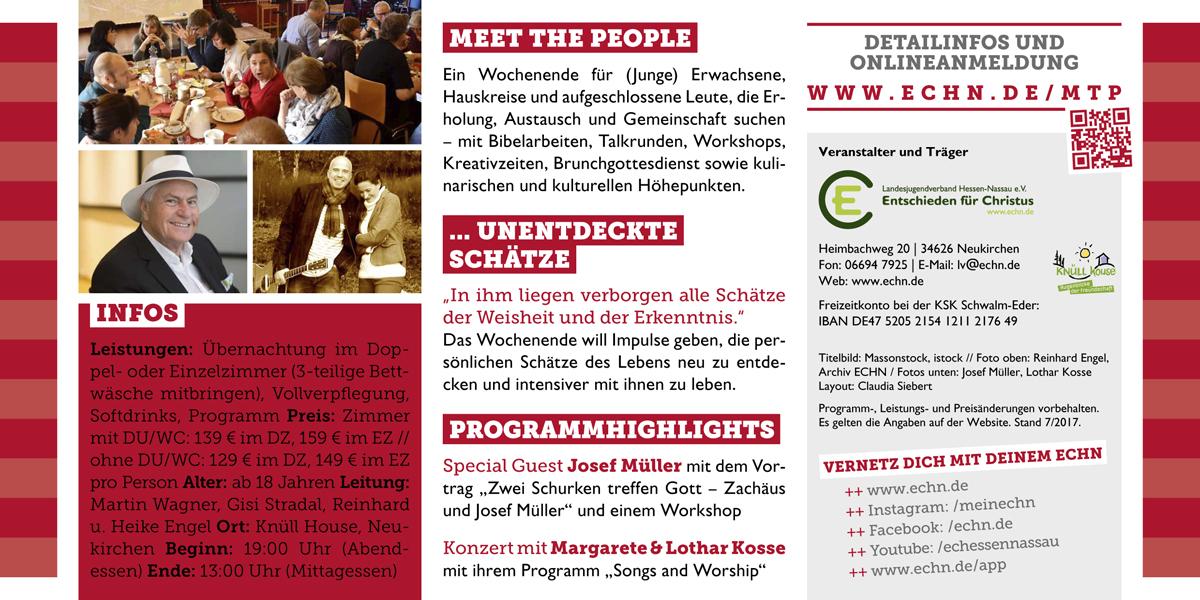 Meet the People 2017: unentdeckte Schätze Flyer Seite 2