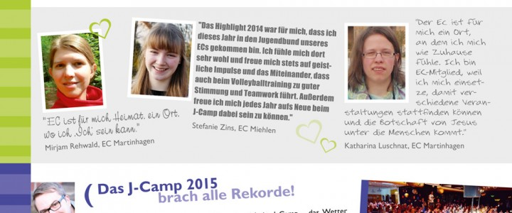 ECHN aktiv Sommer 2015: aktuelle Informationen