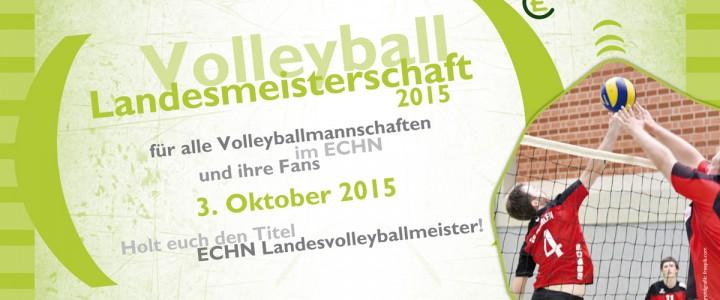Landesvolleyballmeisterschaft 2015: Anmeldung