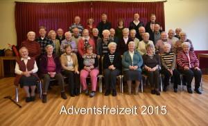 Adventsfreizeit 2015