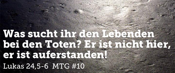 Message ToGo #10: Wo suchst du Jesus?