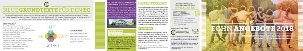 ECHN Angebote 2018 - Flyer Seite 1