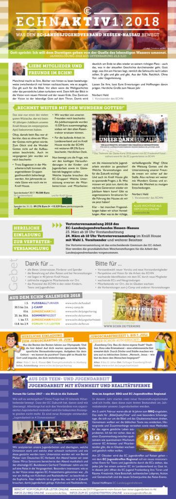 ECHN aktiv 1-2018 Seite 1