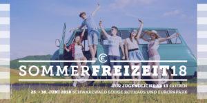 Sommerfreizeit 2018 Flyer Seite 1 Schwarzwald und Europapark