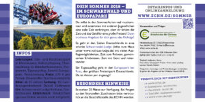 Sommerfreizeit 2018 Flyer Seite 2 Schwarzwald und Europapark