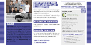 Volleyballmeister 2018 gesucht Flyer Seite 2
