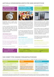 Spendenbrief November 2018: in junge Menschen investieren - Seite 2 Projekte
