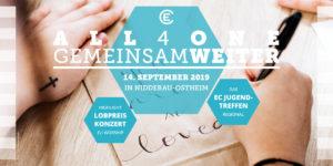 EC Jugendtreffen 2019 Flyer Titelseite All4one gemeinsam weiter