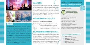 EC Jugendtreffen 2019 Flyer Rückseite All4one gemeinsam weiter