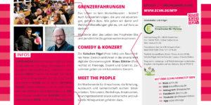 Meet the People 2019 - Thema Grenzerfahrungen - Titelbild Flyer Seite 2
