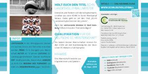 Volleyballmeisterschaft 2019 Flyer Seite 2