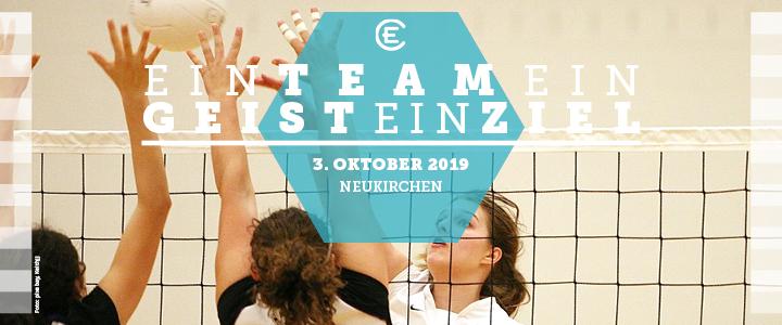 Volleyballmeisterschaft 2019 Flyer Titelbild