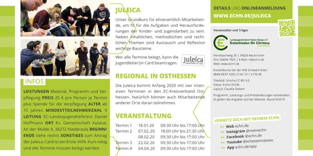 Juleica 2020 Regional Osthessen Flyer Seite 2