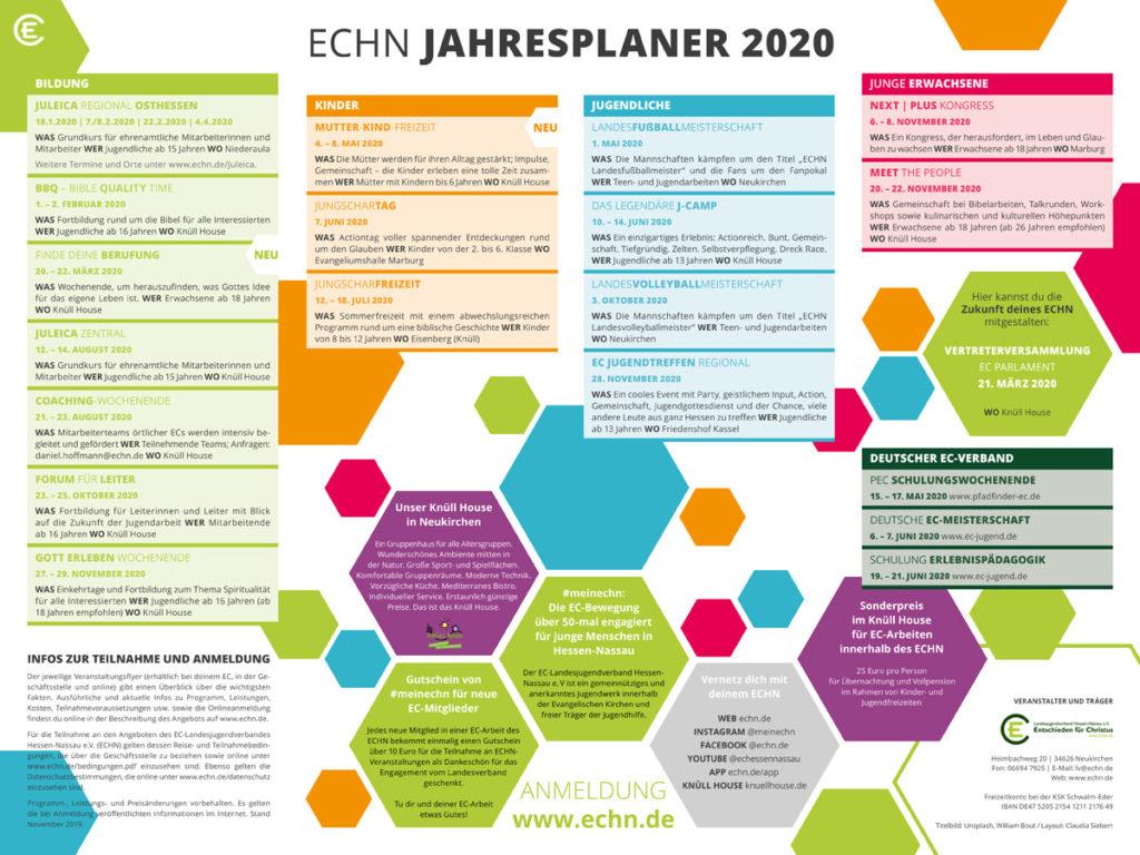 ECHN Jahresplaner 2020 Seite 2