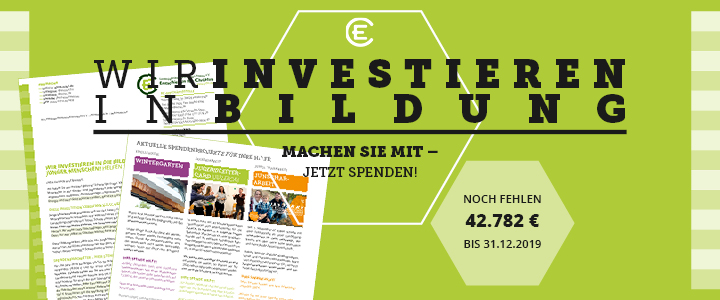 Spendenbitte: Investition in die Bildung
