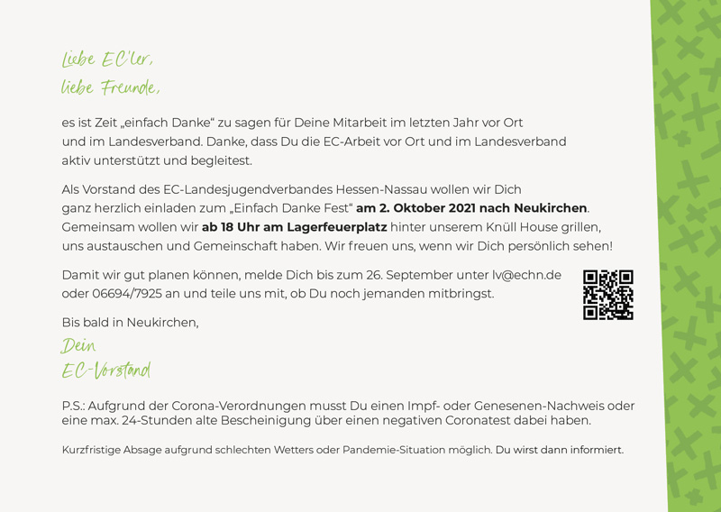 Einladung zum Einfach-Danke-Fest 2021 Flyer Seite 2